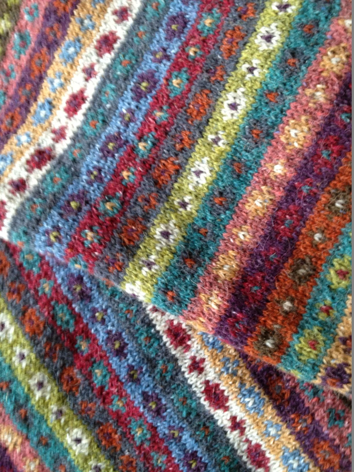 Kaffe Fassett. Great pattern for using scraps. | Knitted Socks ...