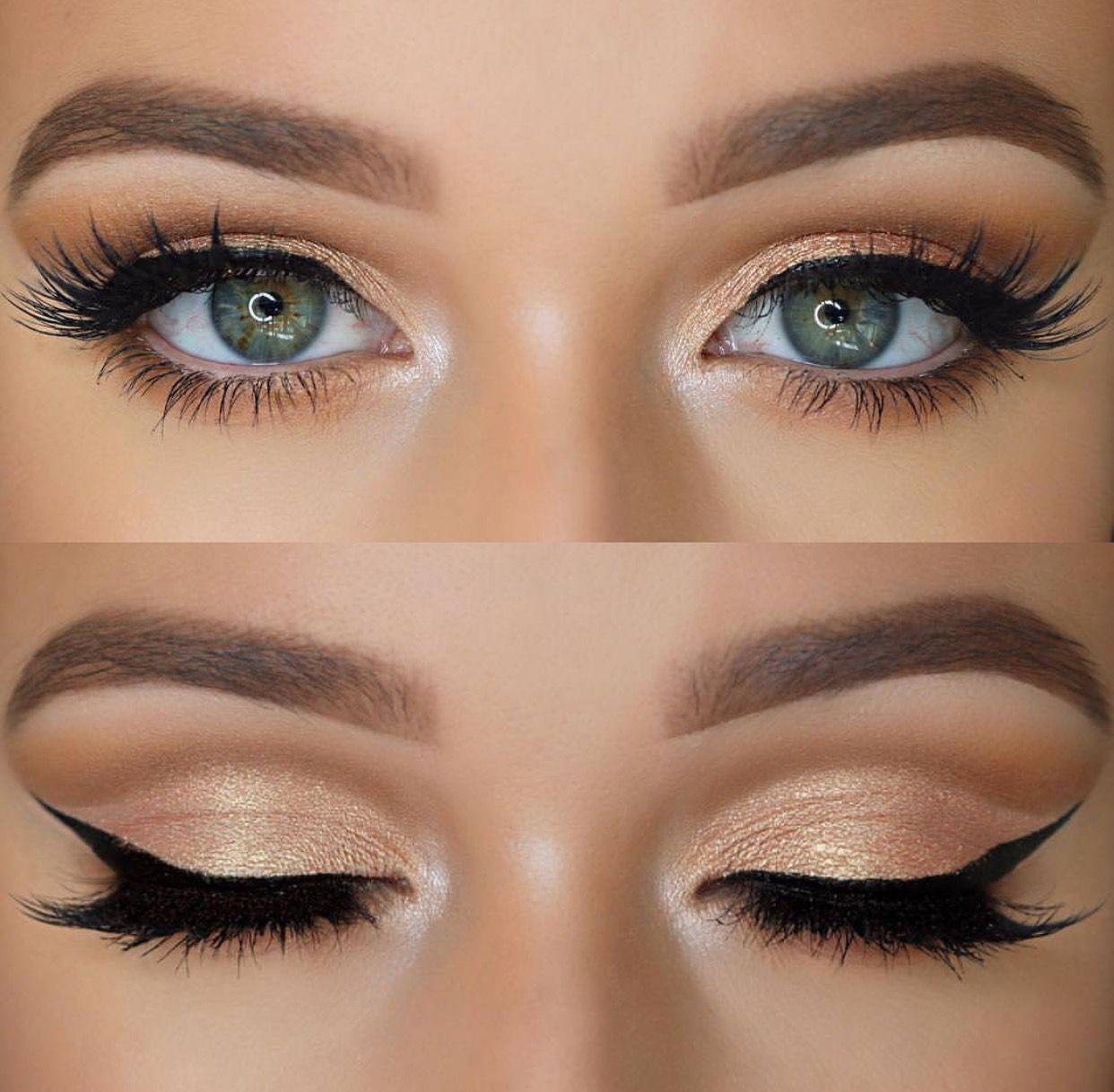 Beautiful Shimmery Bronze/light Gold Look #EyeMakeupBright