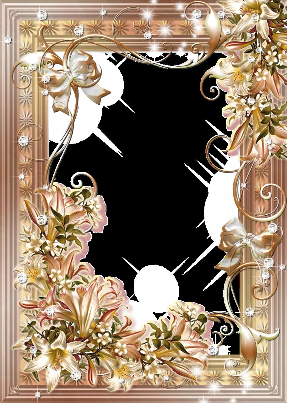 Flowerphotoframewithliliesbouquetsg arte
