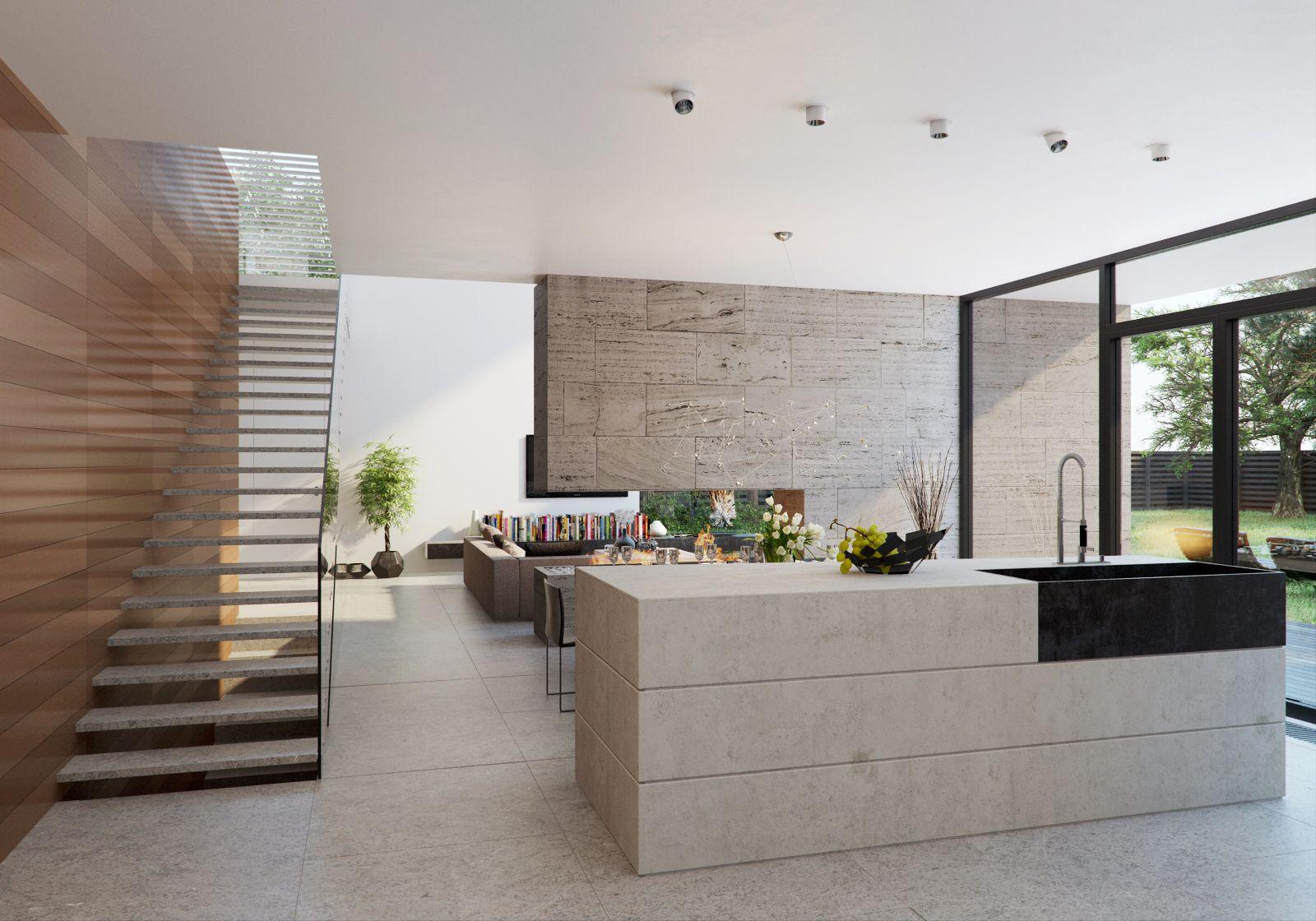 Keuken Met Trap : Mooie keuken open trap en openhaard home pinterest modernes