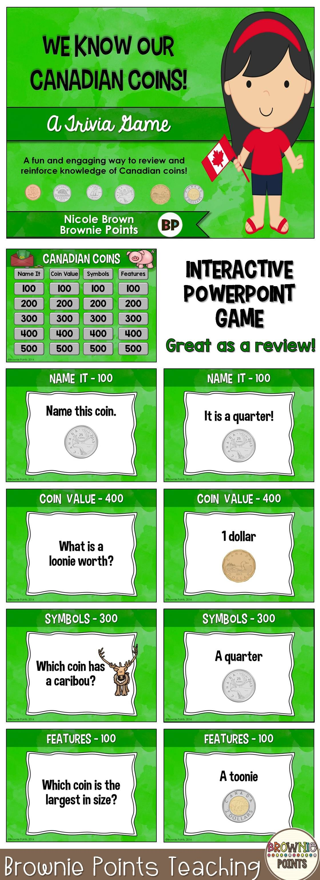 Canadian Money Powerpoint Game