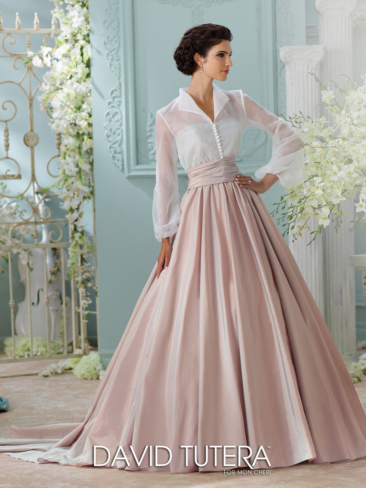 Wedding Dresses 2017 & Spring 2018 | Taffeta skirt, Lace bodice and ...