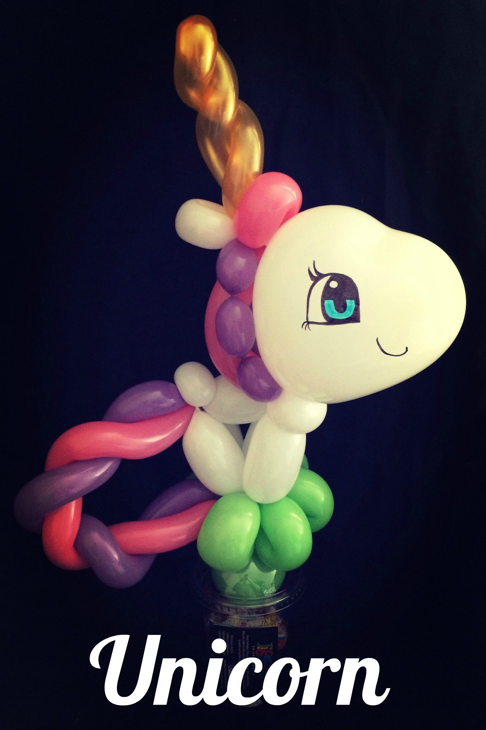 candy cup balloon animals