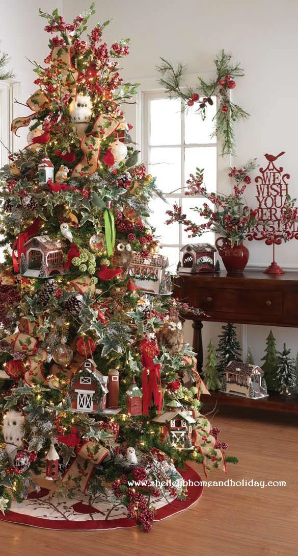 Outdoor Woodsy Themed Christmas Christmas Tree Themes Christmas Tree Decorating Themes Christmas Tree