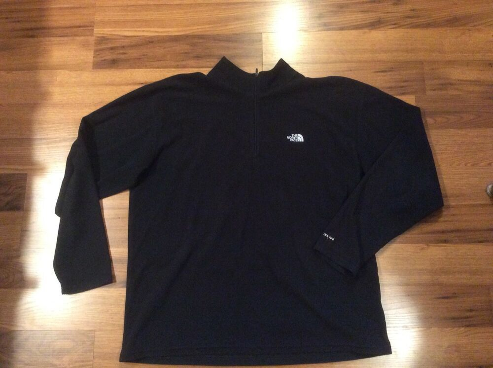 314e9370e The North Face MENS XL Black TKA 100 Fleece 1/4 ZIP Top #fashion ...