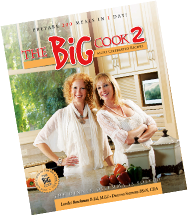 Yes, it's true!  We prepare over 200 meals in 1 day with The Big Cook!  So easy!  Over 43000 books sold already...www.thebigcook.com.  It will change your supper stress and solve the dinner dilemma!  Yay!