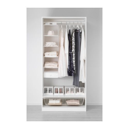 IKEA - PAX, Kleiderschrank, 100x60x236 cm, Scharnier, sanft ...
