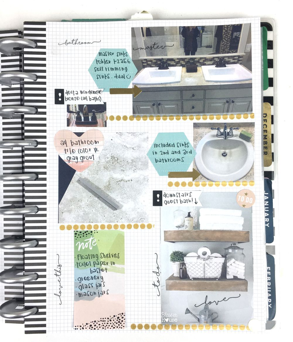a Home Renovation Planner by mambi Design Team member Chantal Stevens using The Happy Planneru2122 system - me & my BIG ideas