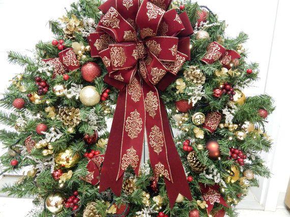 25% OFF Christmas Wreath Lighted Wreath Codress XL Wreath Timer Burgundy Artficial Wreath Wreath Wreaths Pre-Lit Wreath & Christmas Wreath Lighted Wreath Codress XL Wreath Timer ...