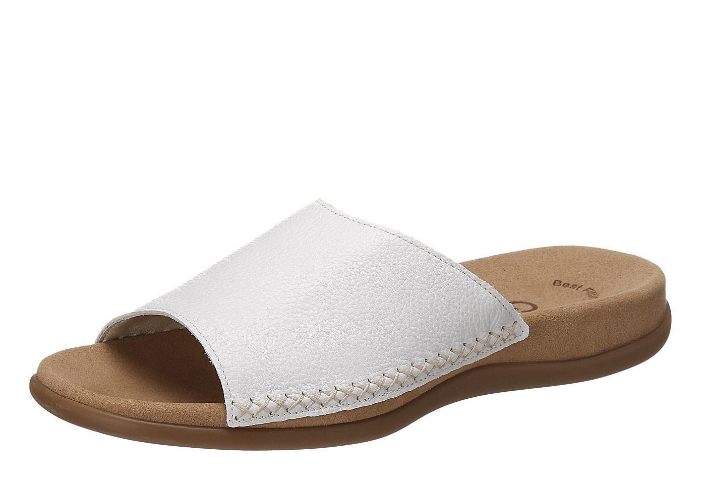 Pantolette, Gabor. Leder, Futter: Leder, Decksohle aus Textil, Gummi-Laufsohle, 25 mm Absatz, Schuhweite: F (normal), Best Fitting....