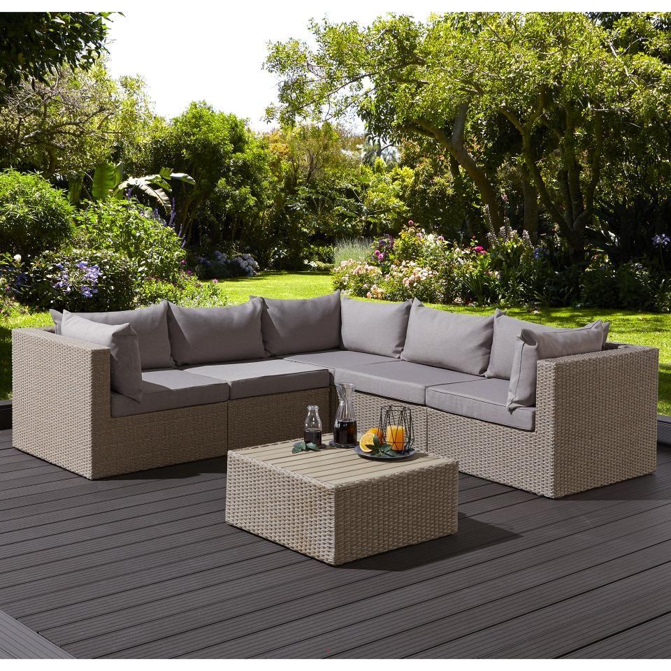 Eck Sofa Set Tennessee 3 Eck Module 2 Mittel Module 1 Tisch Mit Auflagen Danisches Bettenlager Outdoor Sofa Sets Gartenmobel Holz Aussenmobel