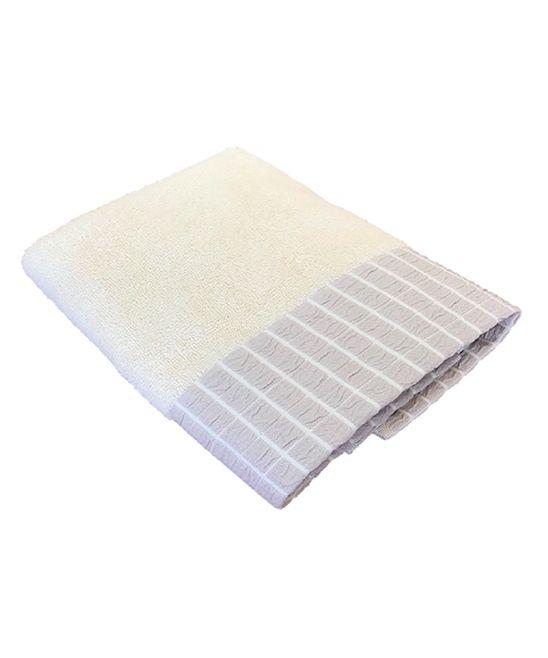 Cream & Gray Bricks Luxury Hand Towel