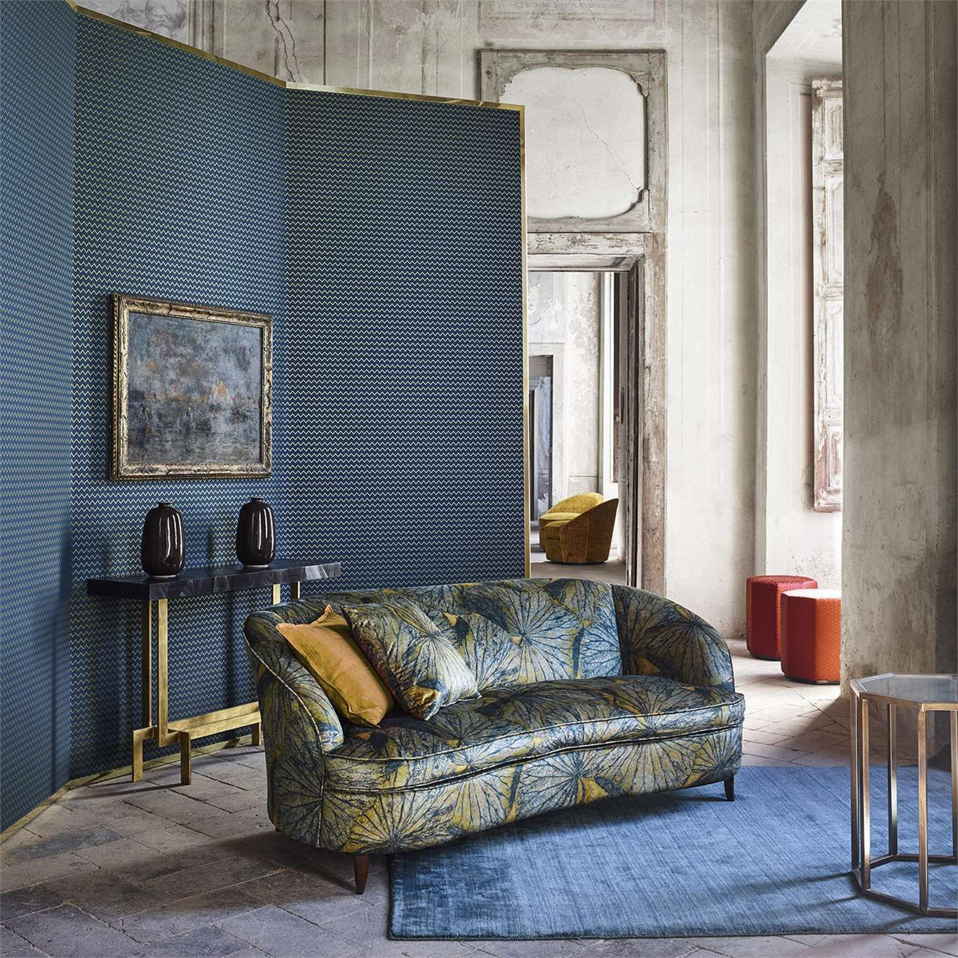 #Zoffany Taisho 322645 Fabric Fabric | 2018 #DesignerFabric Collections |  TM Interiors Limited Lotus Leaves Have Been Intricately Crafted To Create  The ...