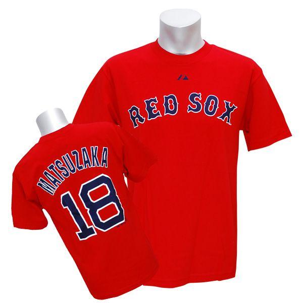 MLB レッドソックス #18 松坂大輔 Player Tシャツ (レッド) Majestic【あす楽対応】【楽天市場】