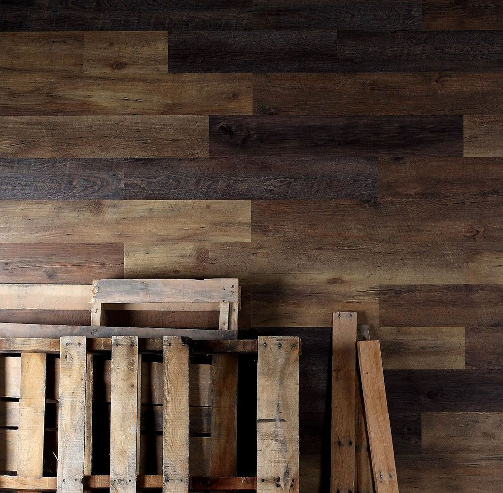Easy Install Pallet Wood Wall: Pallet Wood Wall Planks Wallpaper