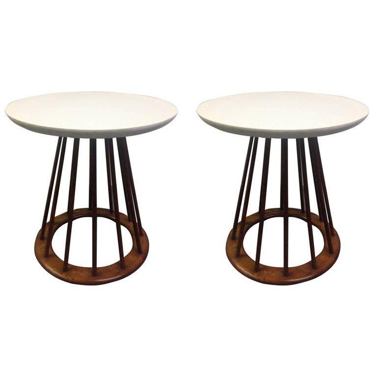 Pair of Danish Modern Teak Stands | Vintage side table ...