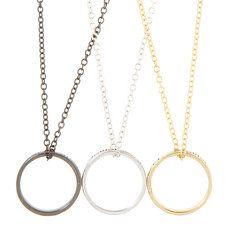 Mejores Amigas para Siempre Ring Necklaces Set of 3