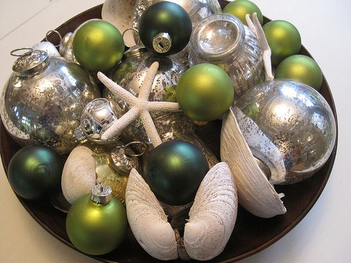 Decorative Glass Balls For Bowls Decorative Idea For Christmas Using Bits And Pieces  Beach