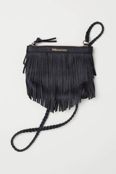 381879b798 H M Shoulder Bag with Fringe - Black