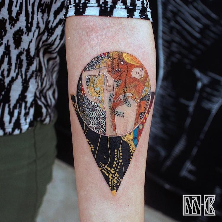 29 Museum Worthy Tattoos Inspired By Art History Klimt Tattoo Art Inspired Tattoos Modern Tattoos