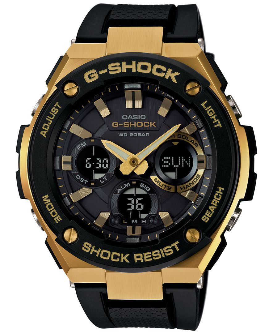 GShock Women's AnalogDigital Black and Gold Black