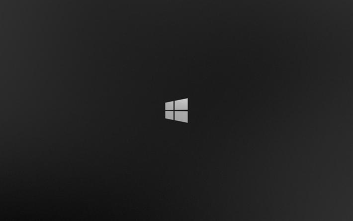 Download Imagens Windows 8, 4k, Plano De Fundo Cinza, O
