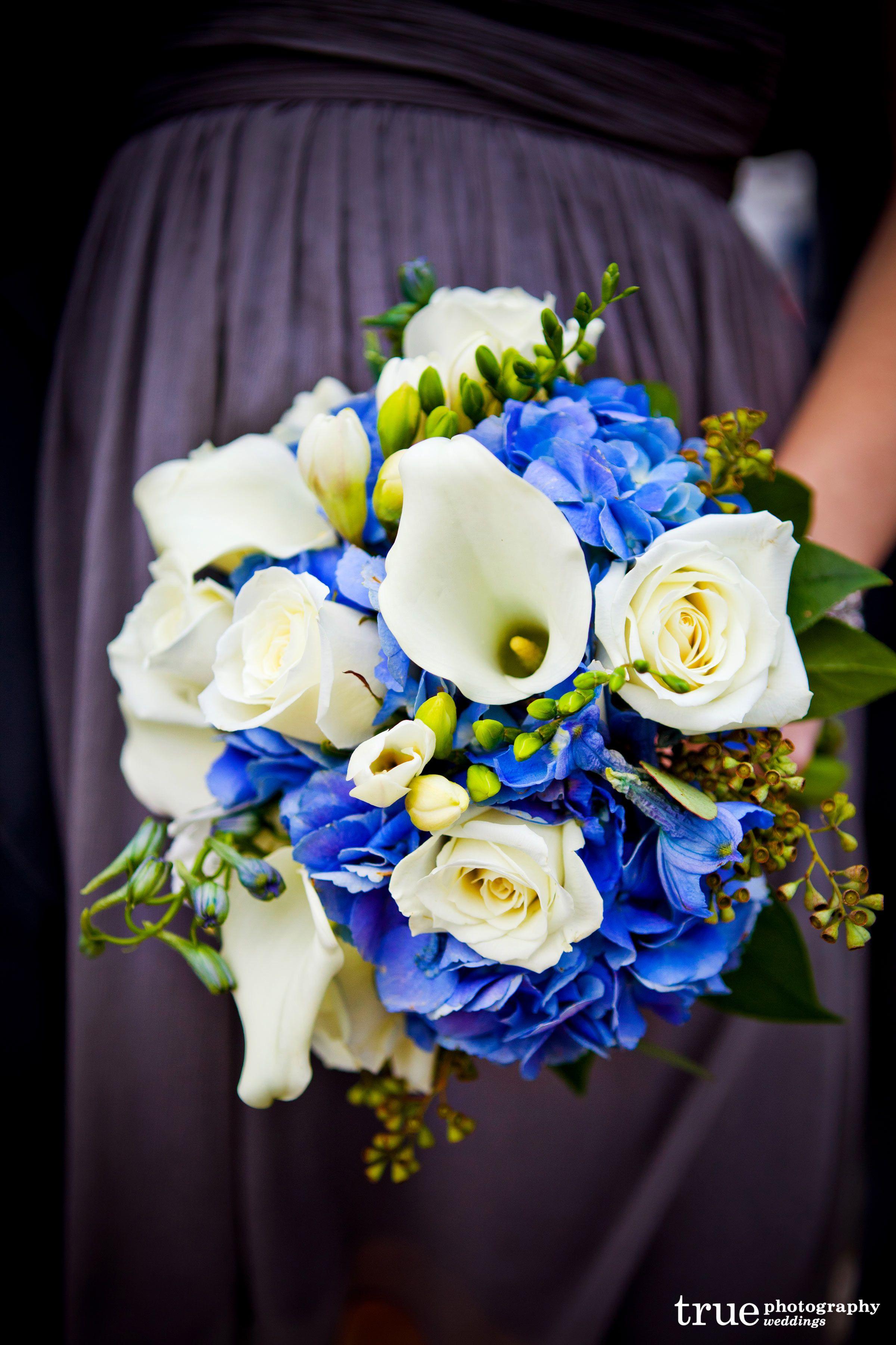 Hydrangea Rose Navy Light Blue Artificial Wedding Bouquets ... |Light Blue Hydrangea Bouquet