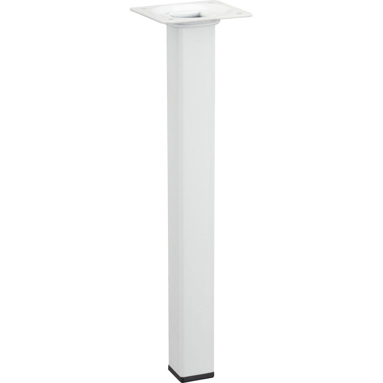 Pied De Table Design Fixe Acier Epoxy Noir 71 Cm Leroy Merlin Avec Images Pied De Table Design Pieds De Table Acier