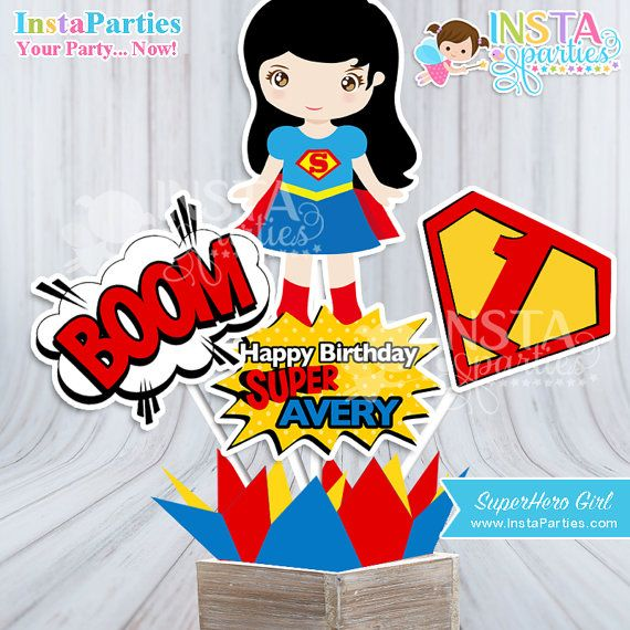 DIGITAL FILE ONLY Personalized Centerpieces The Avengers