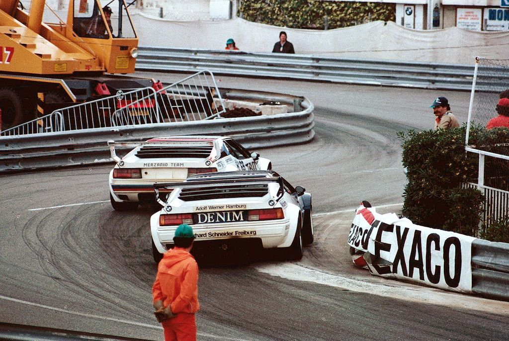 1980 monaco grand prix bmw m1 procar arturo merzario followed by hans heyer cars pinterest. Black Bedroom Furniture Sets. Home Design Ideas