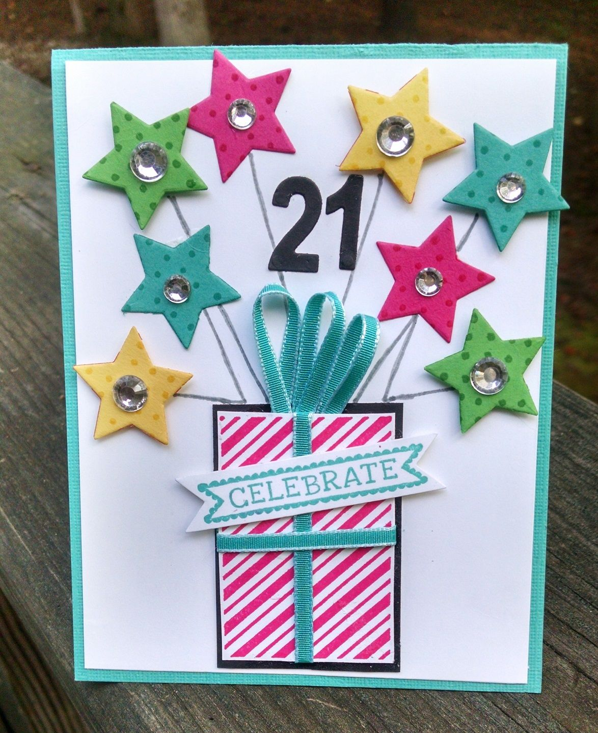 Card Making Ideas 21st Birthday Part - 49: Sharonu0027s Inkie Fingers: Happy 21st Birthday!