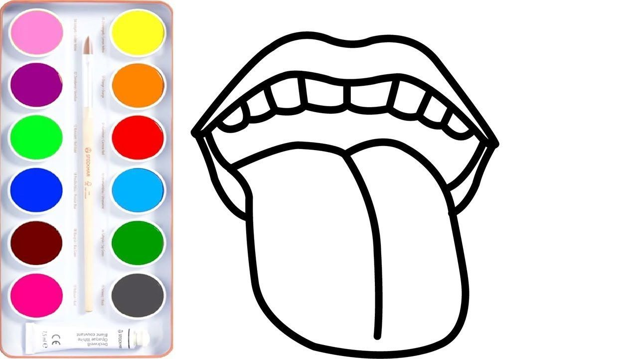 Lip Coloring Page For Kids How To Draw Mouth Book Learn Colors