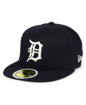 sports shoes 6c0c4 bddec New Era Boys  Detroit Tigers Authentic Collection 59FIFTY Fitted Cap - Blue  6 3 4