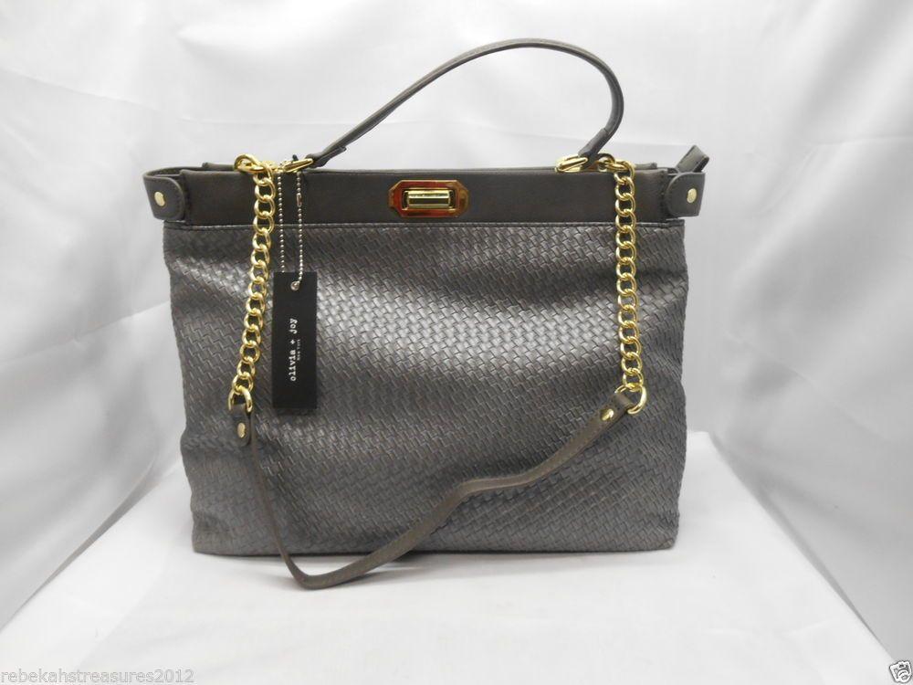 Olivia And Joy Womens Olivia Joy Handbag Splendid Top Handle Tote Gray Oliviajoy Totesshoppers