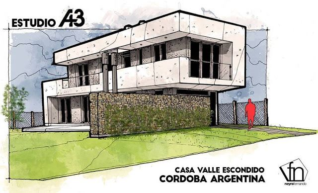 Architectural flow surrealist home illustrations by neyra architecture residential villa pinterest flow illustrations and architecture