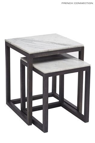 French Connection Set Of 2 Marble Nesting Tables From The Next Uk Online