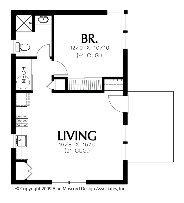 Plan 1165 The Squirrel Small house floor plans, Guest