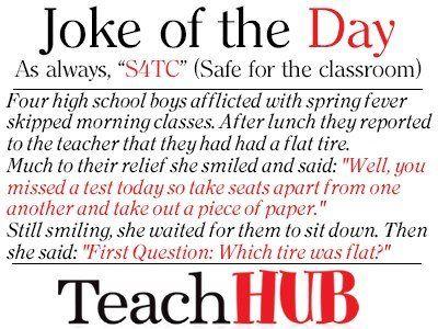 Got to love a little teacher humor....