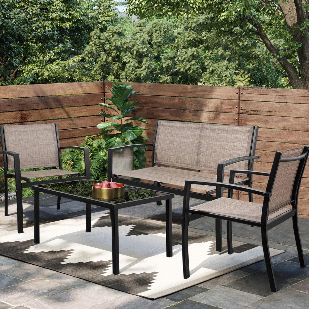 Walnew 4 Piece Outdoor Patio Furniture Set FindsUSA in