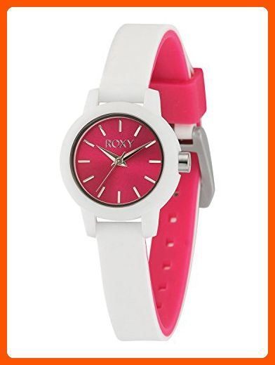 e433782620 Roxy Women s RX 1016PKWT The Monica Pink and White Watch With Silicone  Strap - All about women ( Amazon Partner-Link)