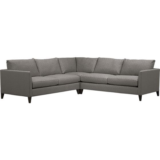 Klyne Ii 3 Piece Corner Sectional Sofa In Sofas Crate And Barrel Dimensions Are What Drawn On Your Plan Already