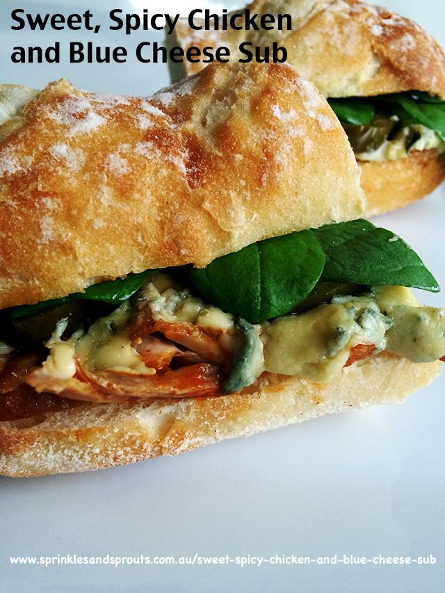 Sweet Spicy Chicken and Blue Cheese Sub