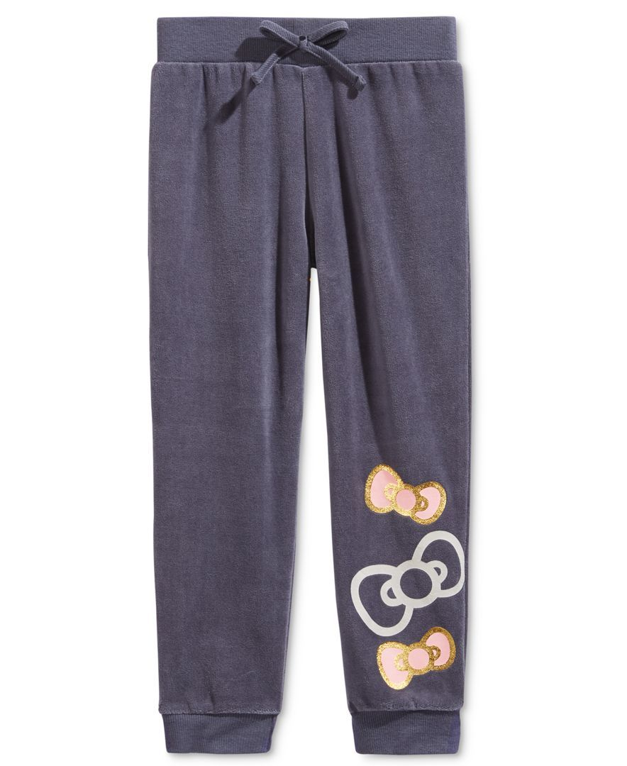 26cc052a1 Hello Kitty Velour Jogger Pant, Toddler & Little Girls (2T-6X ...