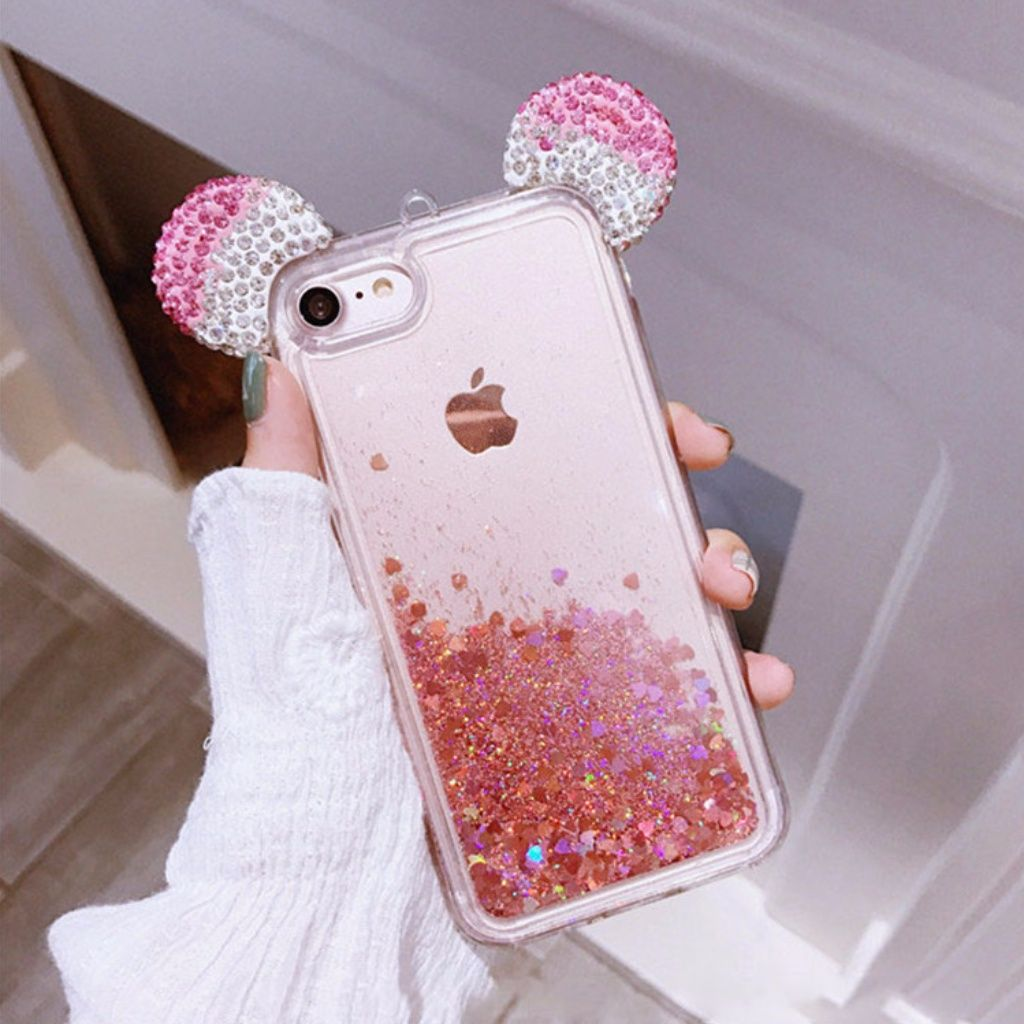 307780fb9cb Iphone Mickey Ear Glitter Case | Phones cases in 2019 | Phone cases ...