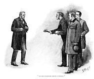 """1800-1899 Sherlock Holmes in The Resident Patient by Sidney Paget 11.7"""" x 16.5"""""""