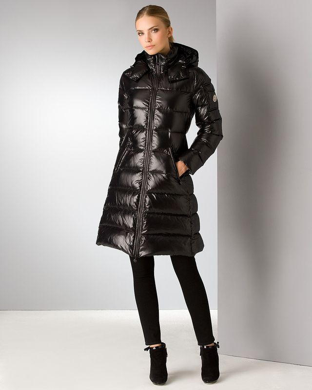 cca3eac4f MONCLER MOKA COAT FOR WOMEN HOODED IN BLACK   Jackets   Fashion ...