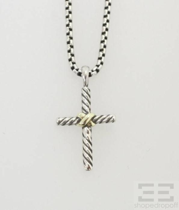 David yurman cross necklace for women david yurman sterling 14k david yurman cross necklace for women david yurman sterling 14k gold petite cross pendant aloadofball Images