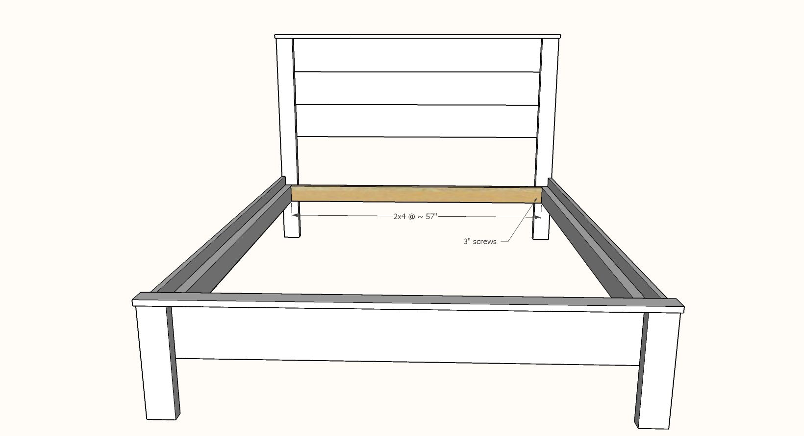 Simple Panel Bed All Mattress Sizes No Pocket Holes Panel Bed Frames Wood Bed Frame Bed Frame Plans