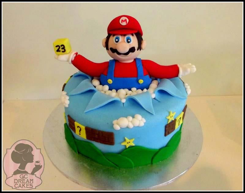 Super Mario Bros Cake Made For A 5 Year Old Boys Birthday Triple