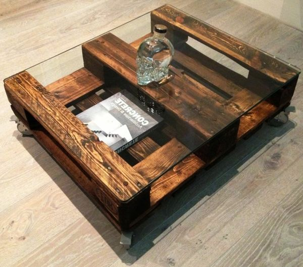pallet coffee table - Idee Deco Table Basse